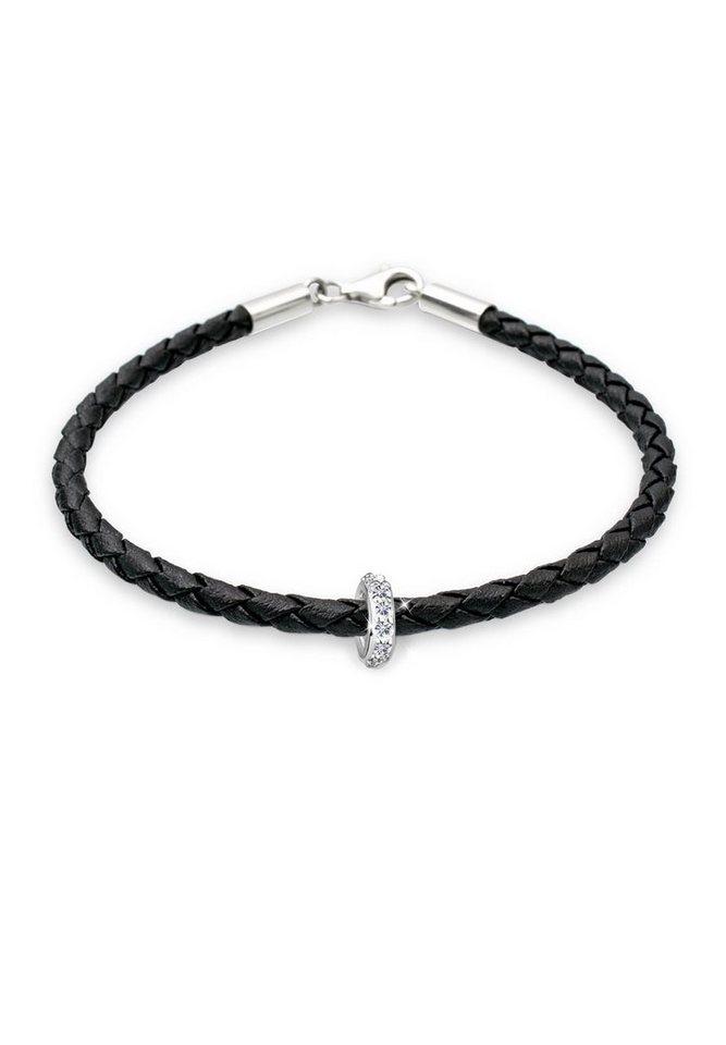 Elli Armband »Sammelband Swarovski Kristalle 925 Sterling Silber« in Schwarz