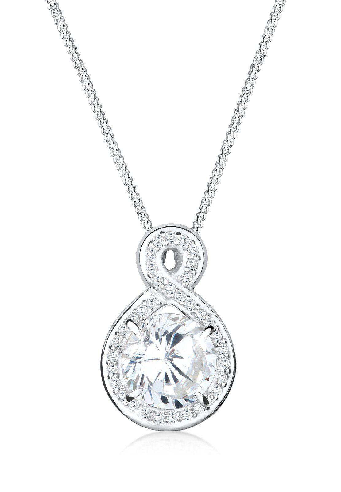 Elli Halskette »Unendlich Funkelnd Zirkonia 925 Sterling Silber«