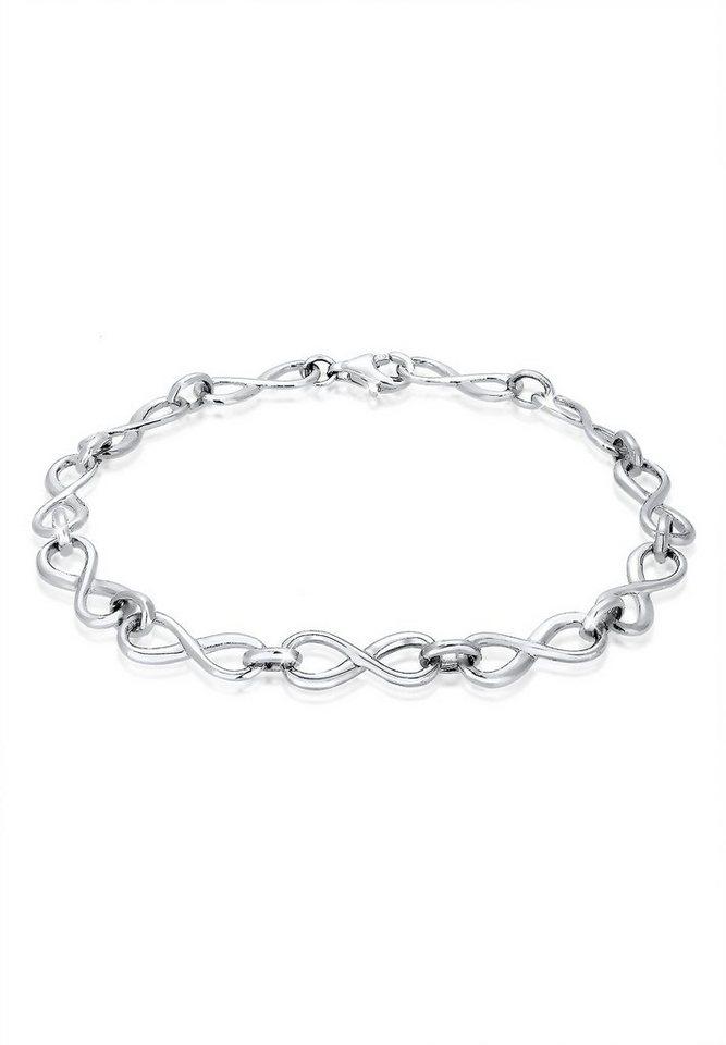 Elli Armband »Infinity Unendlichkeit Liebe 925 Sterling Silber« in Silber