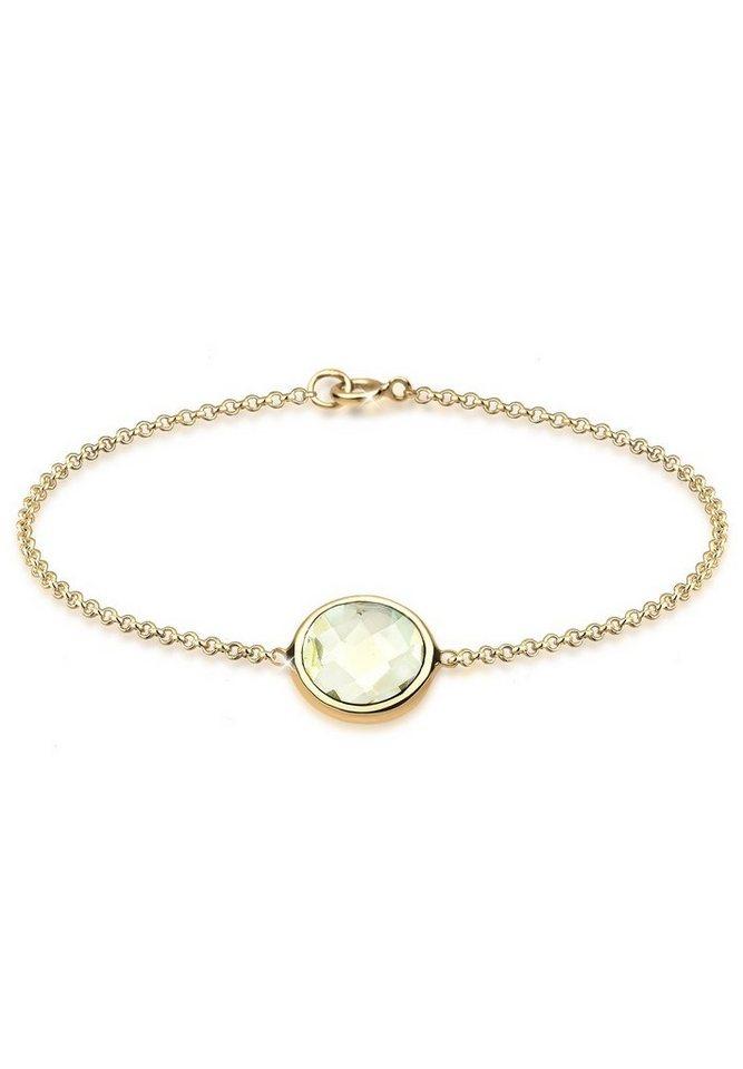 Elli Armband »Quarz 925 Sterling Silber vergoldet« in Gelb