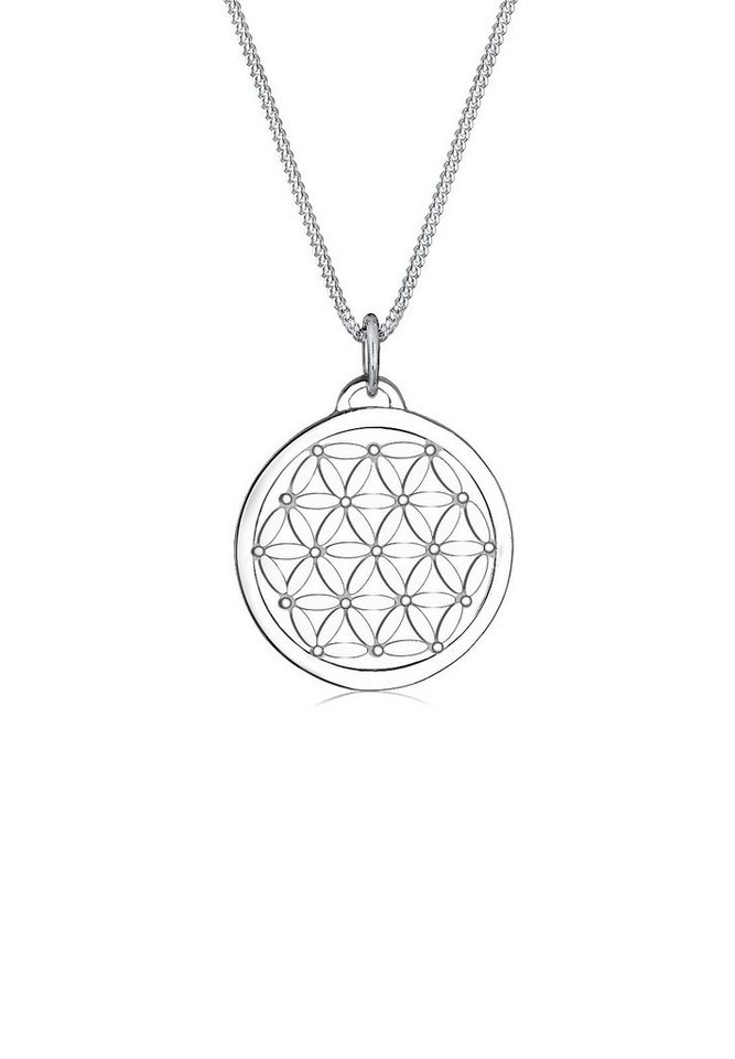 Elli Halskette »Lebensblume 925 Sterling Silber« in Silber