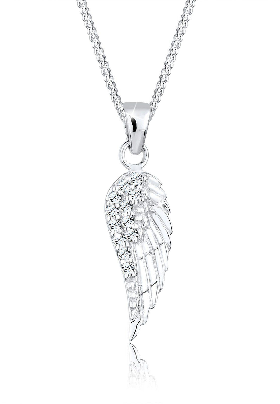 Elli Halskette »Flügel Swarovski® Kristalle 925 Sterling Silber«