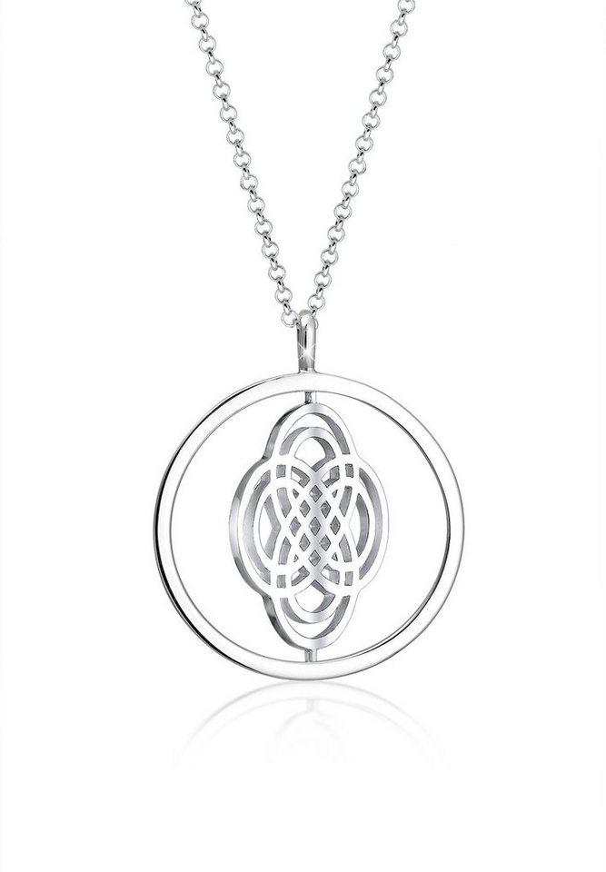 Elli Halskette »Ornament Drehscheibe 925 Sterling Silber« in Silber