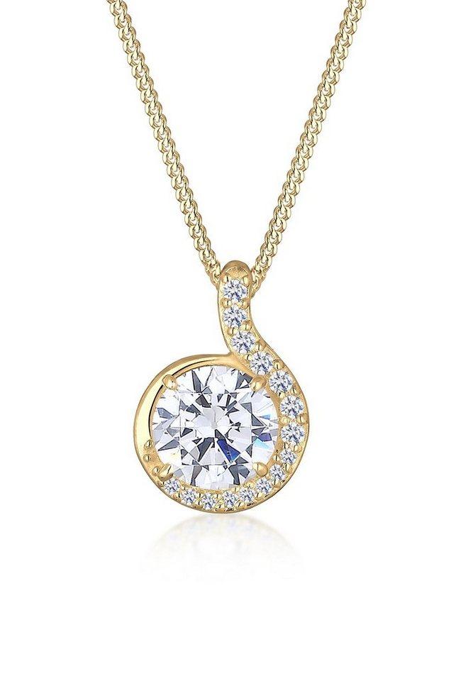 Elli Halskette »Tropfen Zirkonia 585 Gelbgold« in Gold