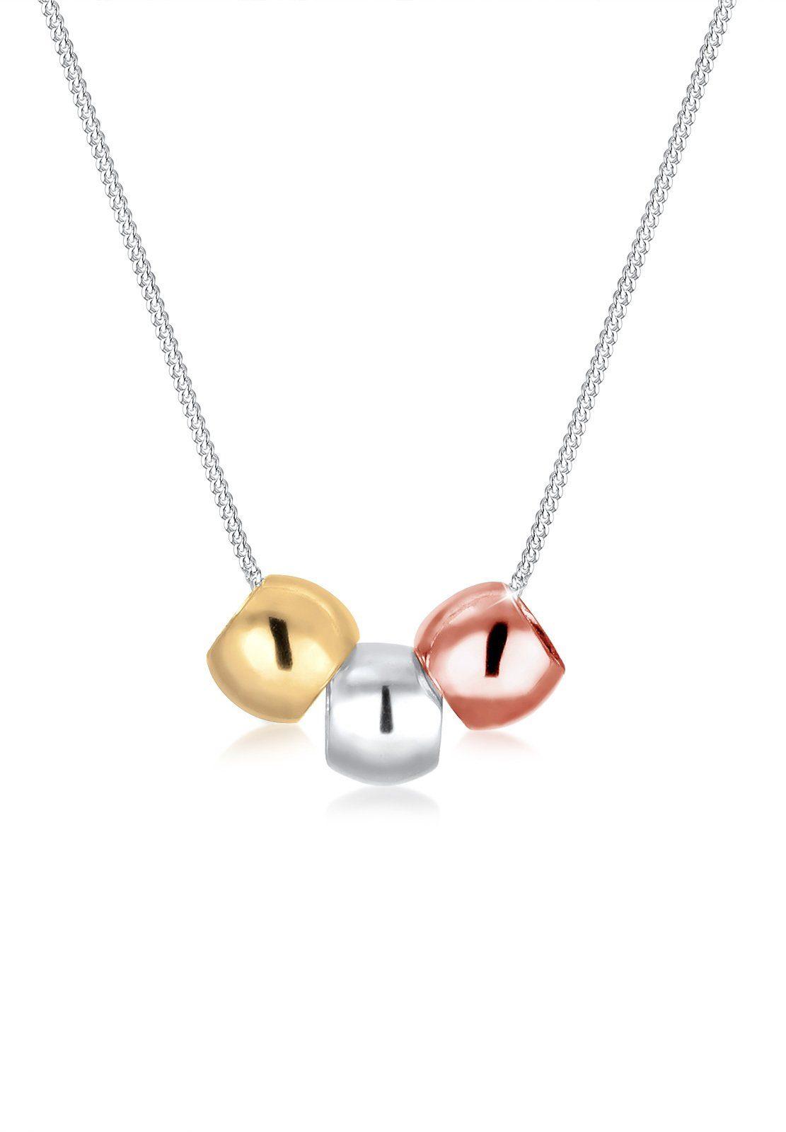 Elli Halskette »Tricolor Kugeln 925 Sterling Silber«