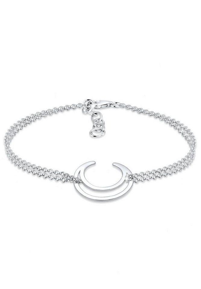 Elli Armband »Halbmond Astro 925 Sterling Silber« in Silber