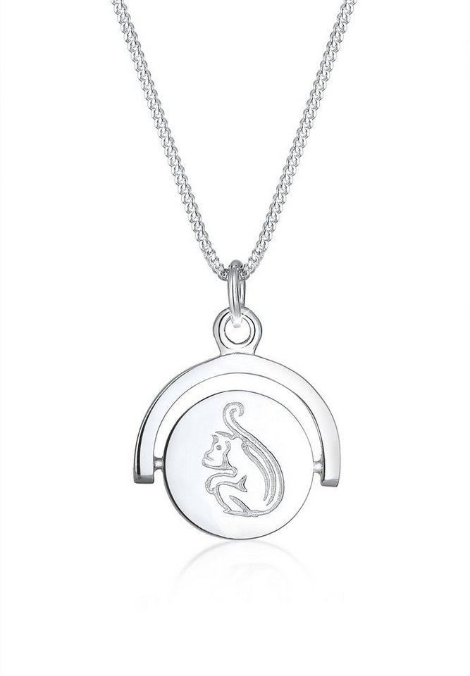 Elli Halskette »Year of Monkey 925 Sterling Silber« in Silber