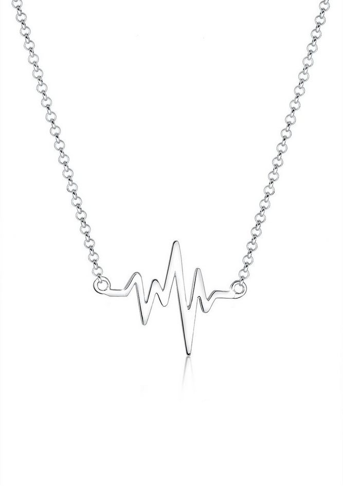 Elli Halskette »Herzschlag 925 Sterling Silber« in Silber