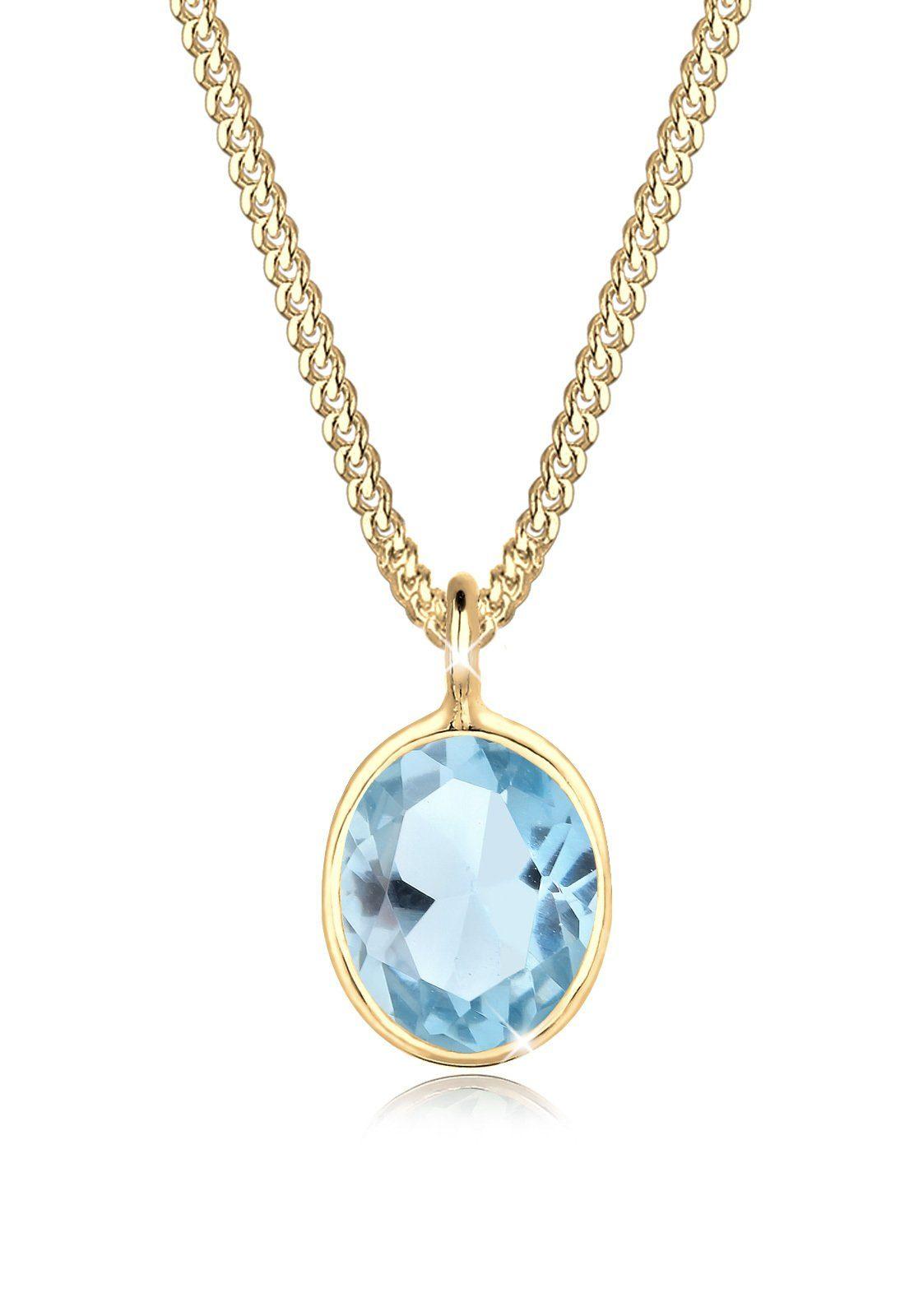 Goldhimmel Halskette »925 Silber vergoldet Topas«