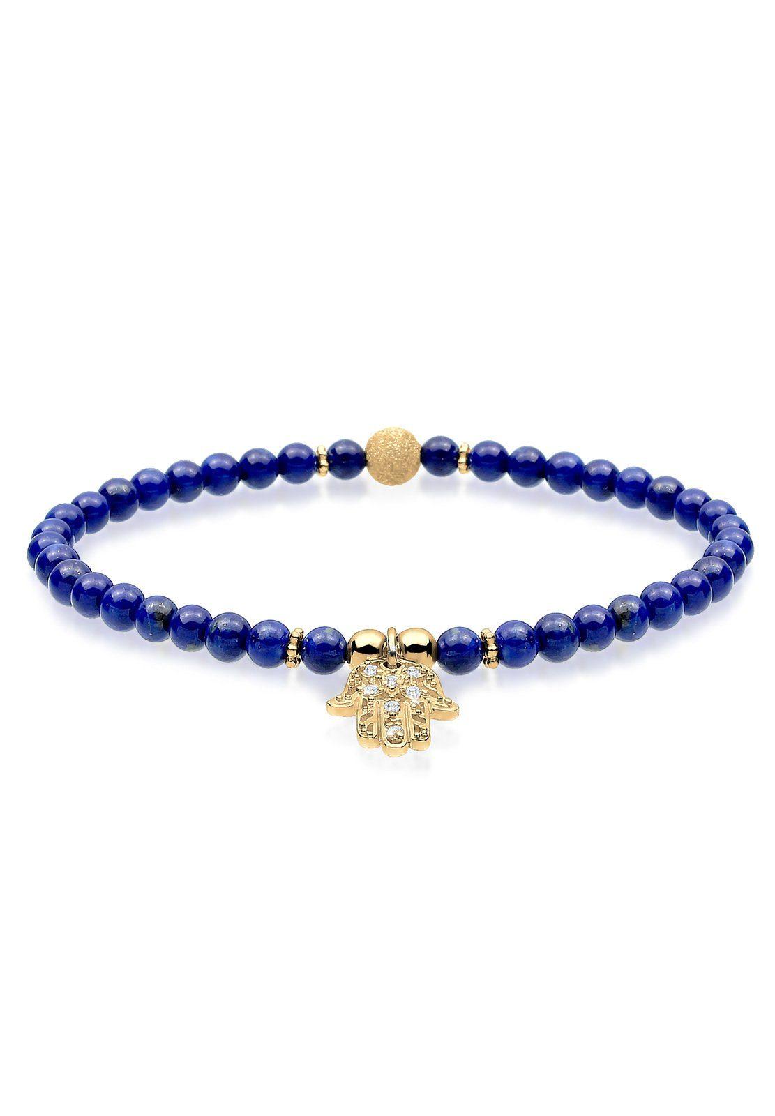 Elli Armband »Hamsa Hand Zirkonia Lapis Lazuli 925 Silber«