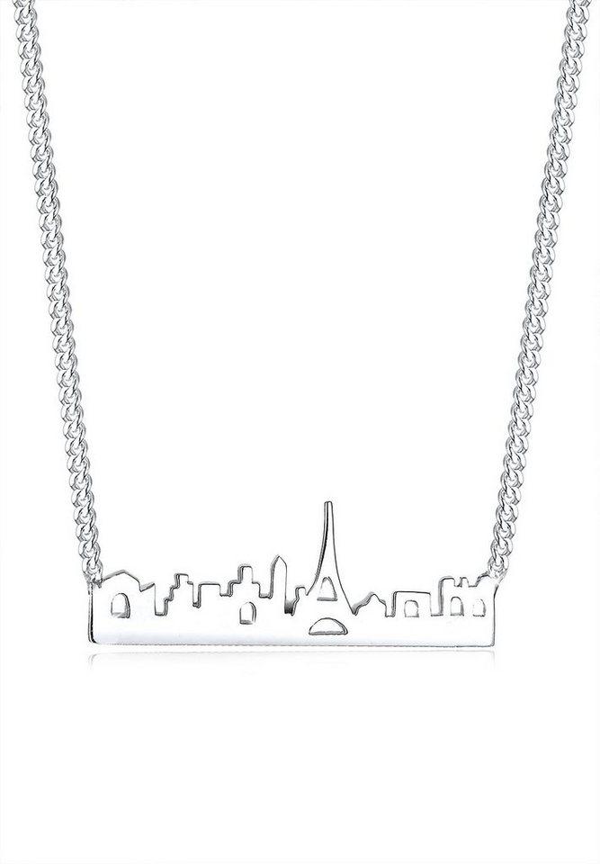 Elli Halskette »Paris Skyline Eiffelturm 925 Sterling Silber« in Silber