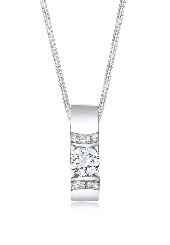 Elli Halskette »925 Sterling Silber Zirkonia« in Weiß