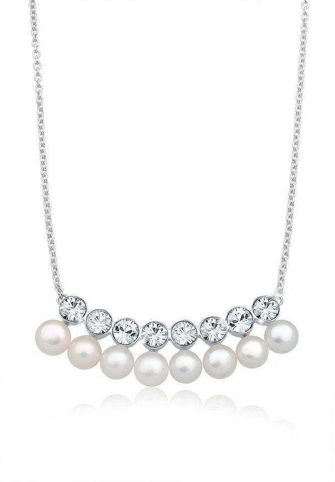 Elli Halskette »Collier Swarovski® Kristalle 925 Sterling Silber« in Weiß
