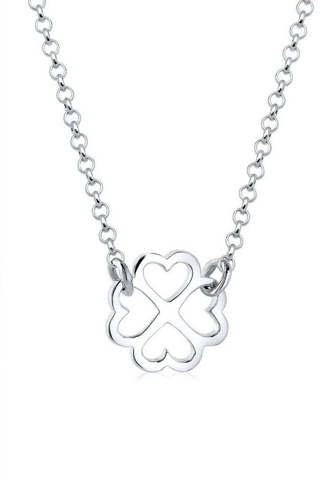 Elli Halskette »Kleeblatt Glücksbringer 925 Sterling Silber« in Silber