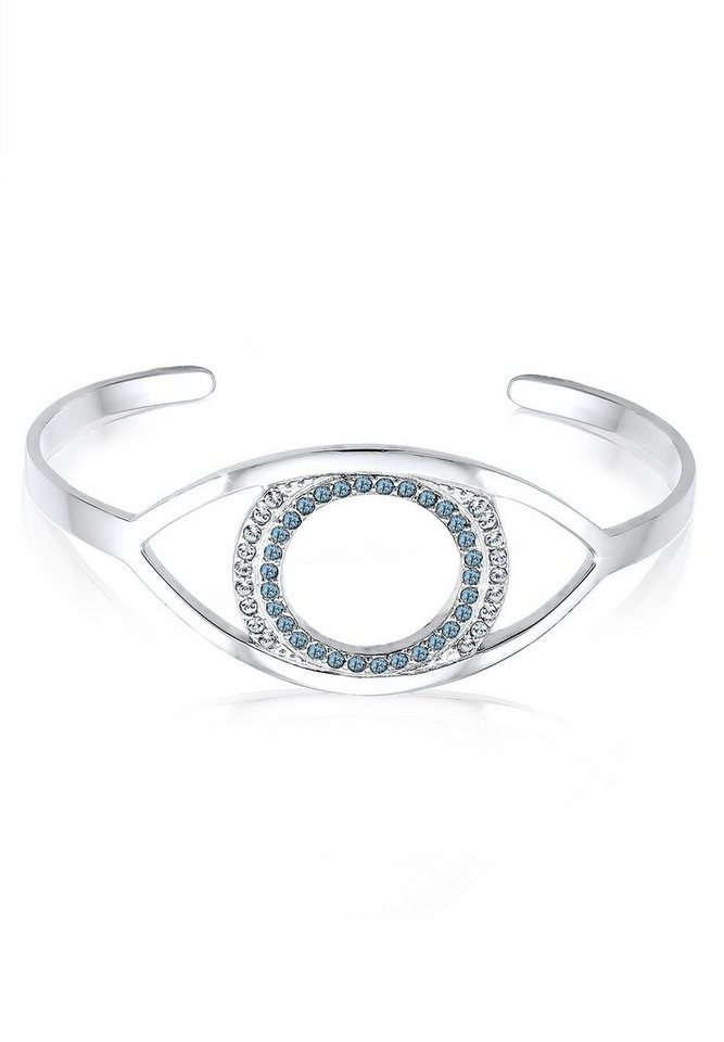 Elli Armband »Evil Eye Swarovski Kristalle 925 Sterling Silber« in Blau