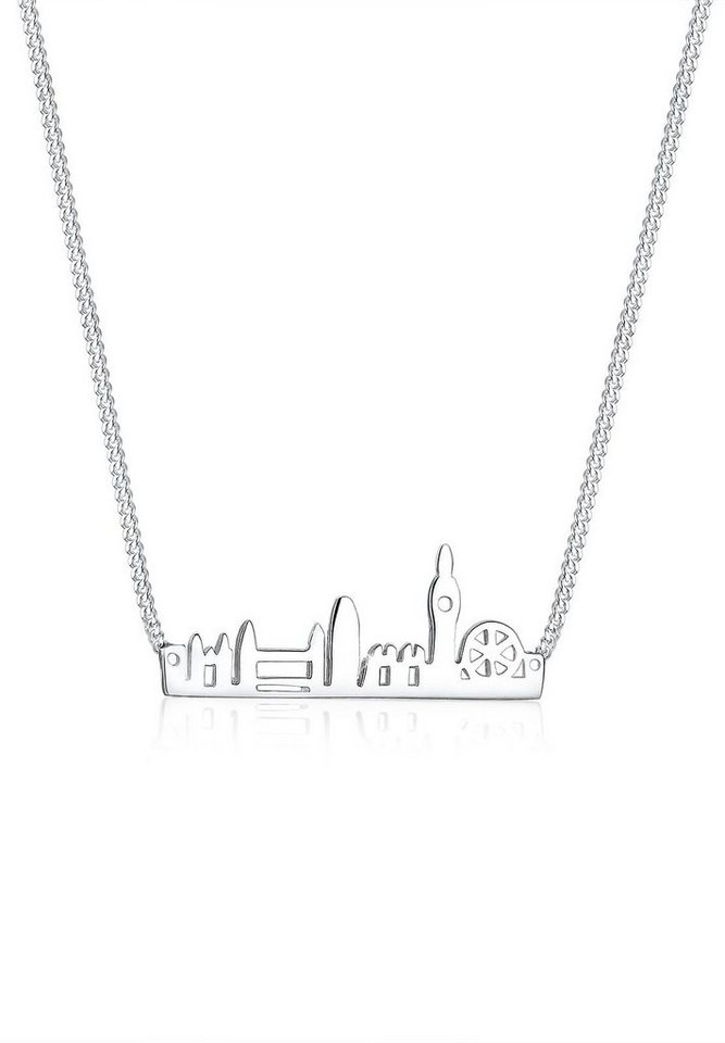 Elli Halskette »London Skyline 925 Sterling Silber« in Silber