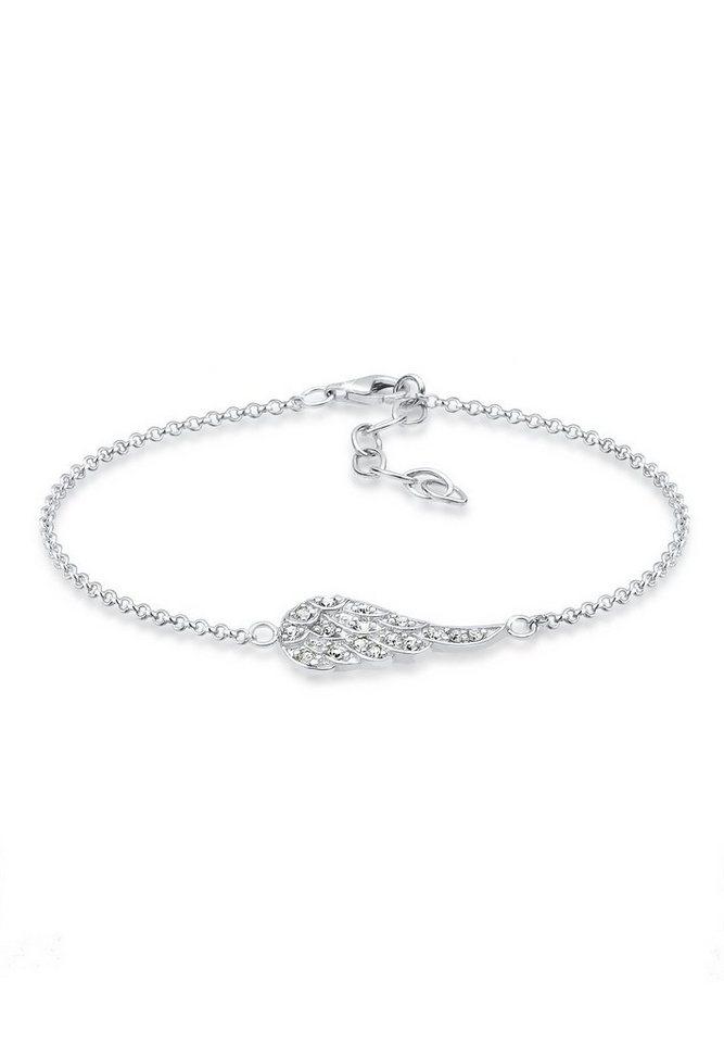 Elli Armband »Flügel Swarovski Kristalle 925 Sterling Silber« in Silber