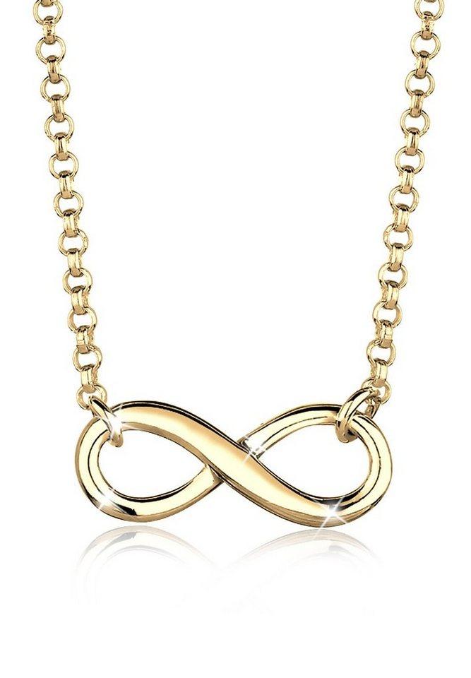 Goldhimmel Halskette »Infinity Unendlichkeit 925 Sterling Silber« in Gold