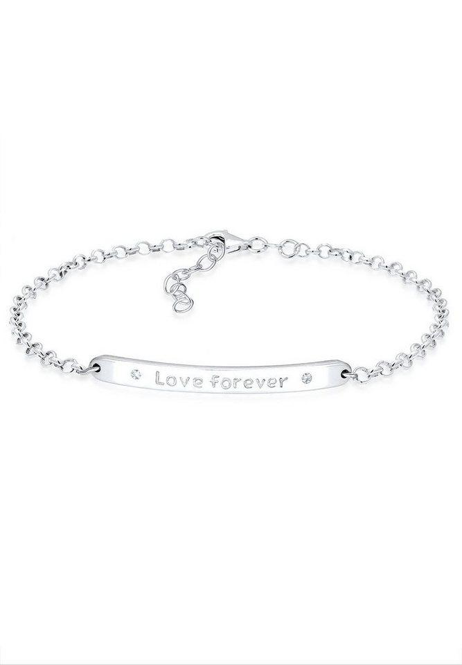 Elli Armband »Love forever Swarovski Kristalle Sterling Silber« in Silber