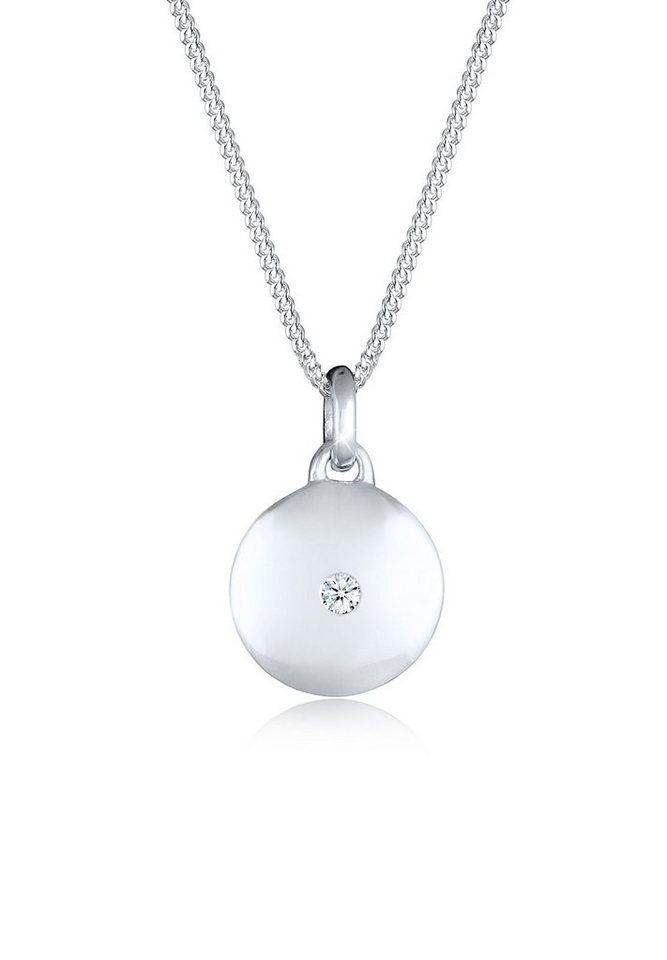 Diamore Halskette »Kreis Diamant 925 Sterling Silber« in Weiß