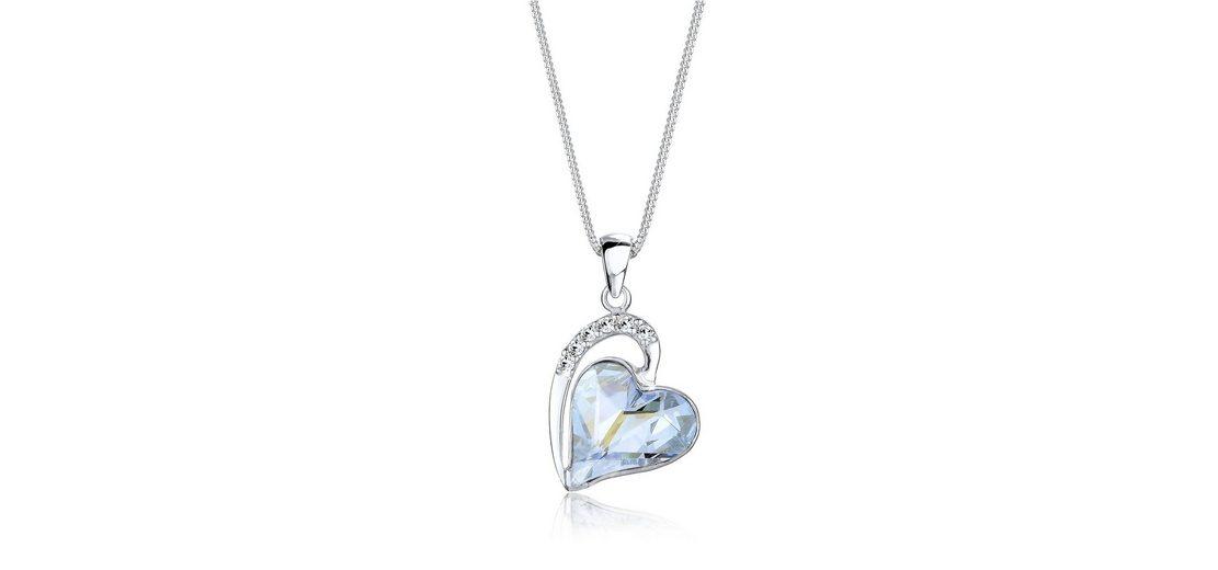 Elli Halskette »Love Amor Swarovski® Kristalle 925 Sterling Silber«