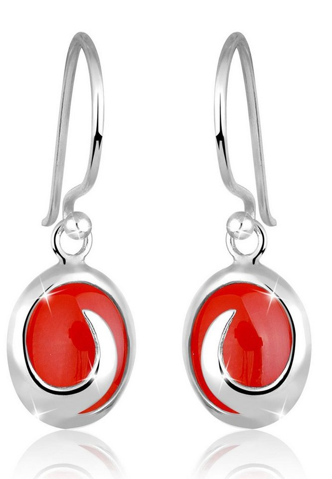 Elli Ohrringe »Karneol 925 Sterling Silber« in Rot