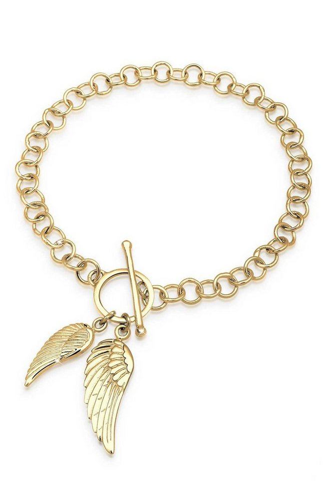 Goldhimmel Armband »Engels Flügel 925 Sterling Silber vergoldet« in Gold