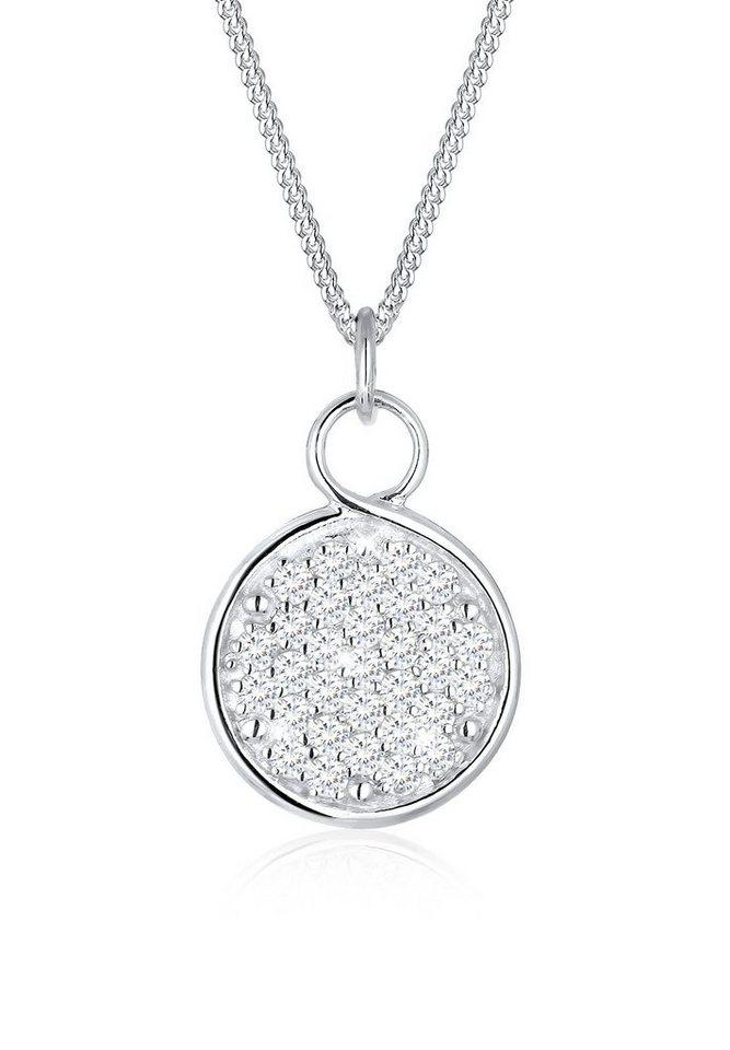 Elli Halskette »Unendlich Zeichen Zirkonia 925 Sterling Silber« in Weiß