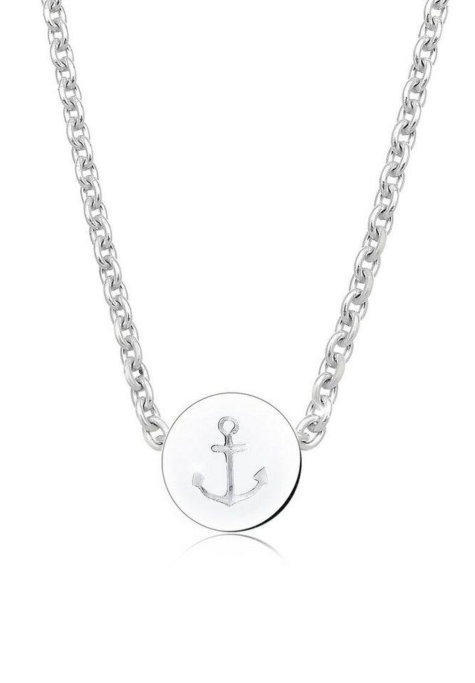 Elli Halskette »Anker Maritim 925 Sterling Silber« in Silber