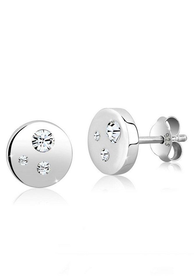 Elli Ohrringe »925 Sterling Silber Swarovski Kristalle« in Weiß