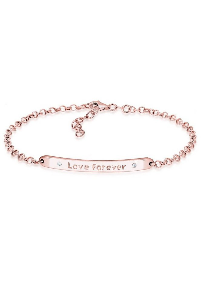 Elli Armband »Love forever Swarovski Kristalle Sterling Silber« in Rosegold