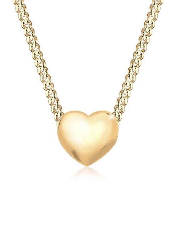 Elli Halskette »Herz Liebesbeweis 585 Gelbgold« in Gold