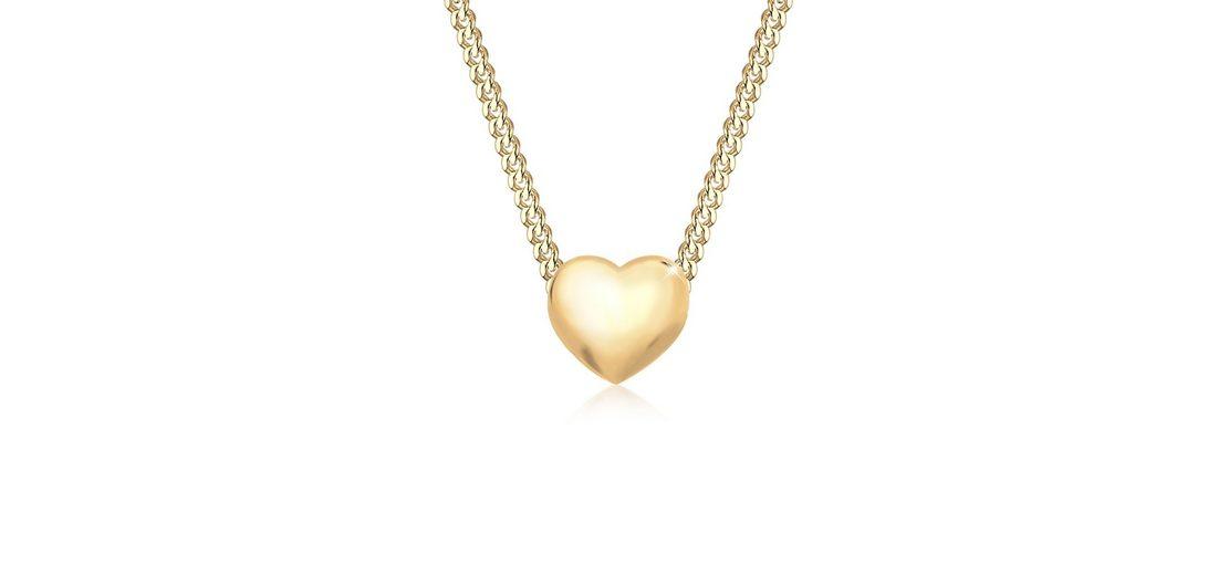 Elli Halskette »Herz Liebesbeweis 585 Gelbgold«