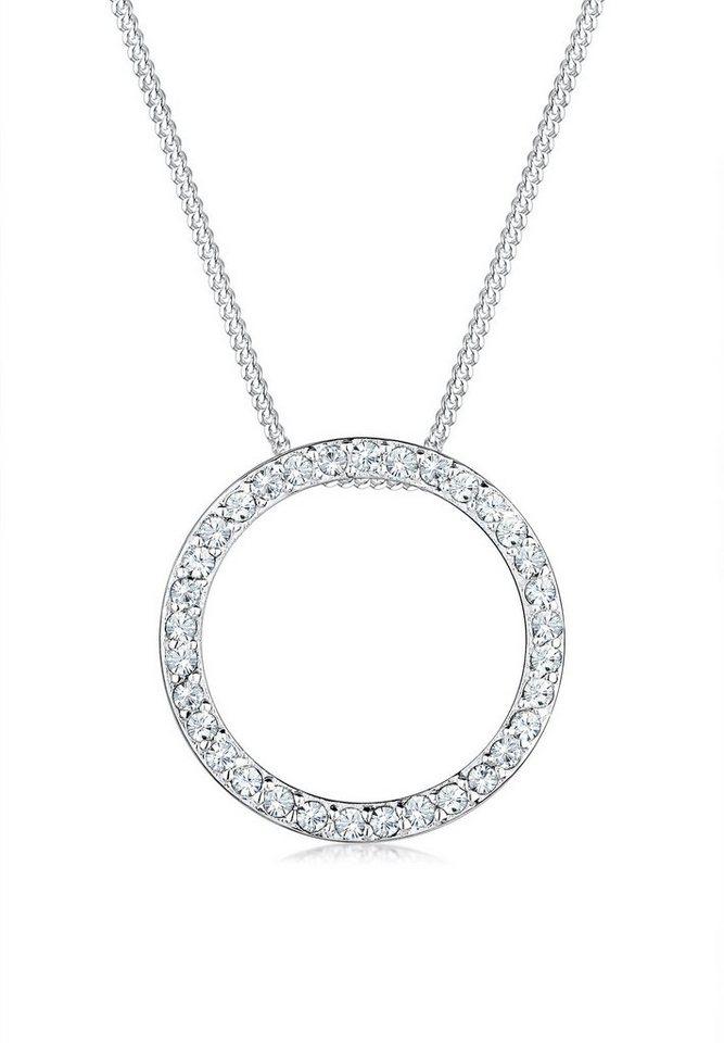 Elli Halskette »Kreis Swarovski Kristalle 925 Sterling Silber« in Silber