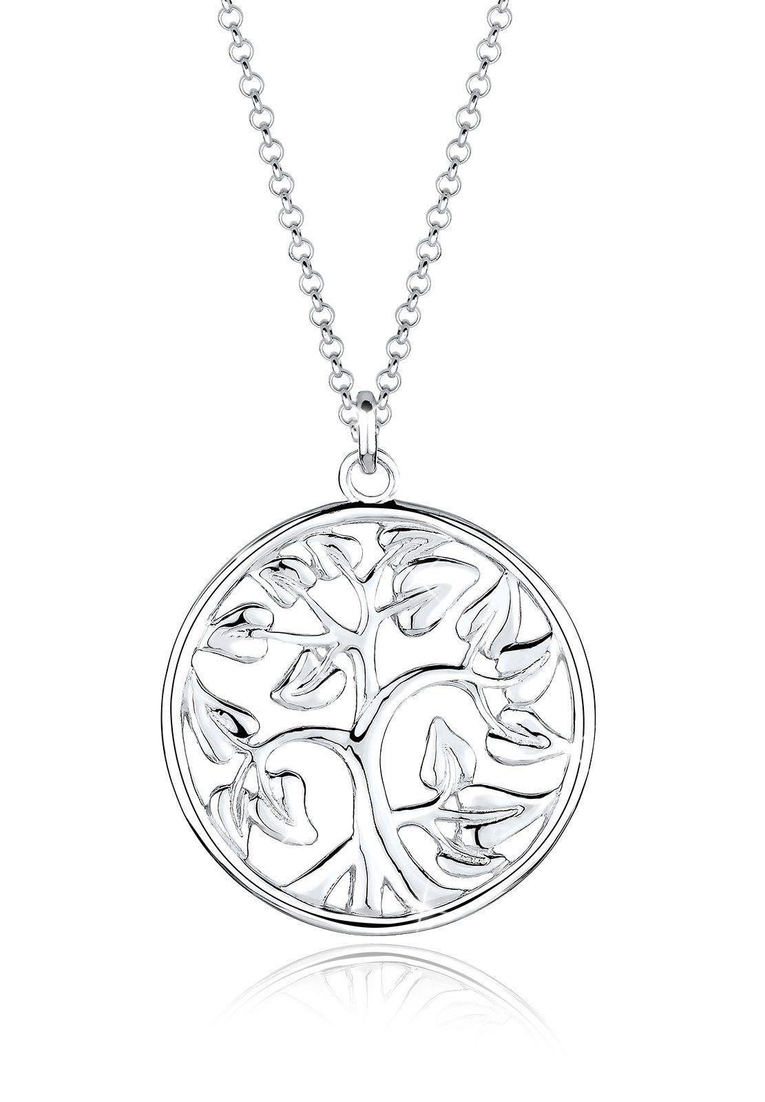 Elli Halskette »Münze Tree of Life 925 Sterling Silber«
