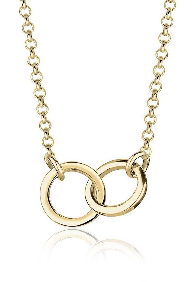 Elli Halskette »Kreise Geo Minimal 375 Gelbgold« in Gold