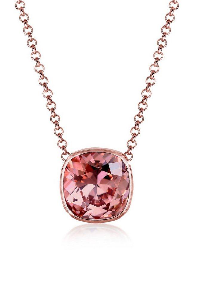 Elli Halskette »Minimal Swarovski® Kristalle 925 Sterling Silber« in Rosa