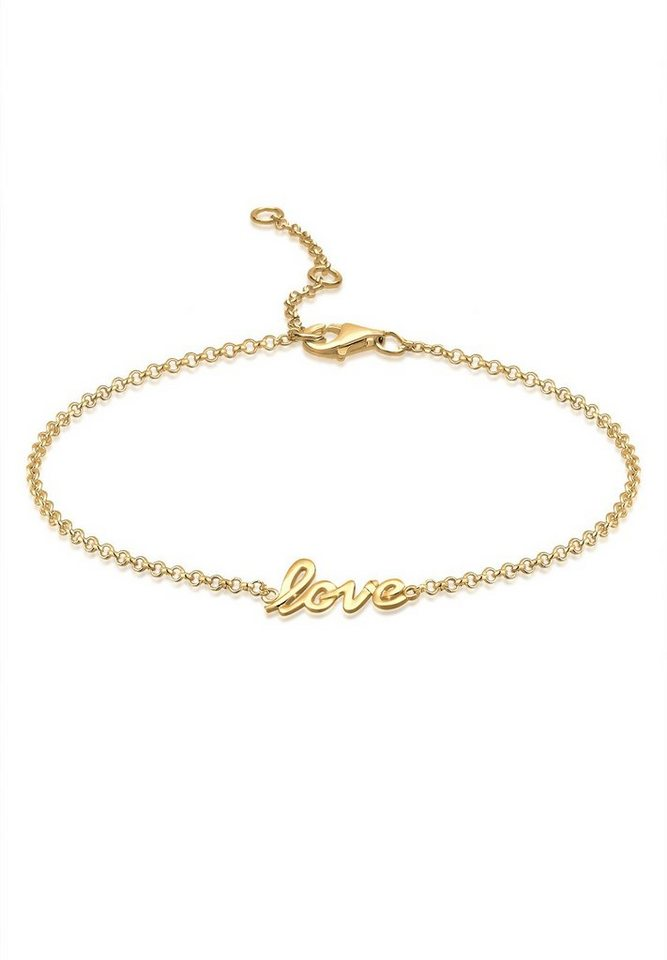Elli Fußschmuck »Love 925 Sterling Silber« in Gold