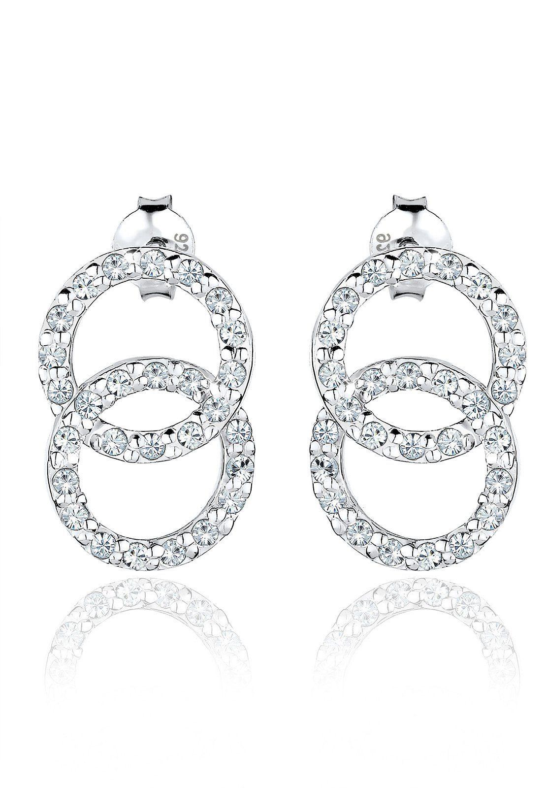 Elli Ohrringe »Kreis Swarovski Kristalle 925 Sterling Silber«