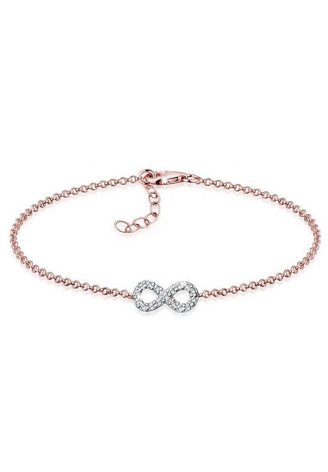 Elli Armband »Swarovski Kristalle 925 Sterling Silber Roségold« in Rosegold