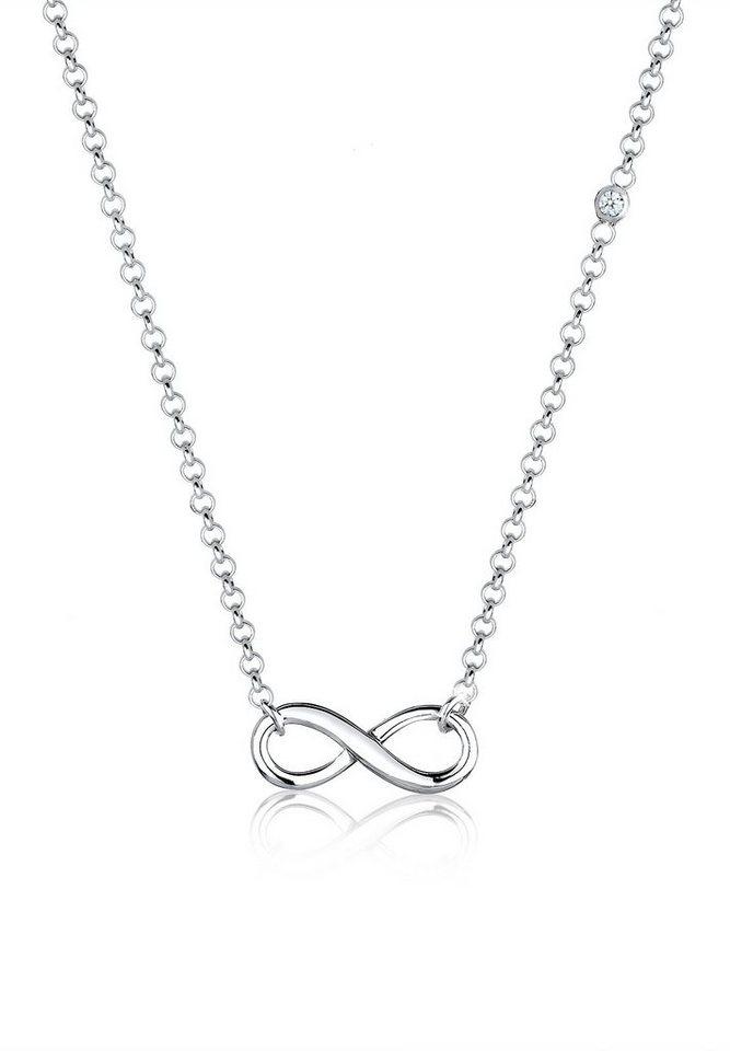 Elli Halskette »Infinity Diamant 925 Sterling Silber« in Silber