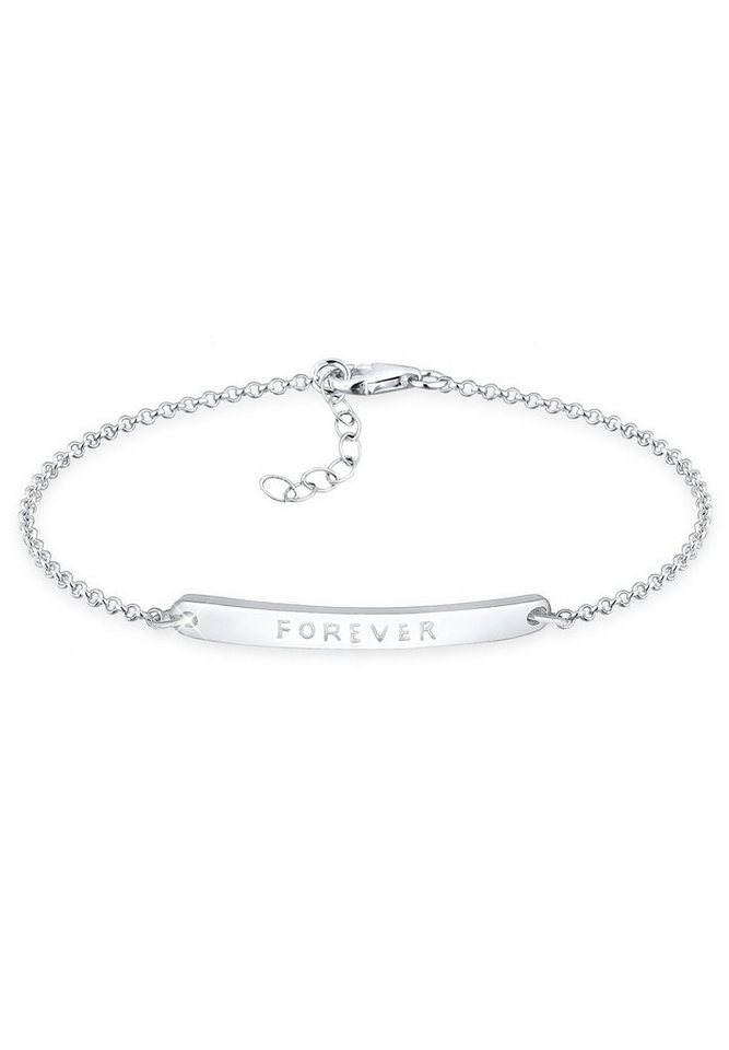 Elli Armband »Forever-Schriftzug 925 Sterling Silber« in Silber
