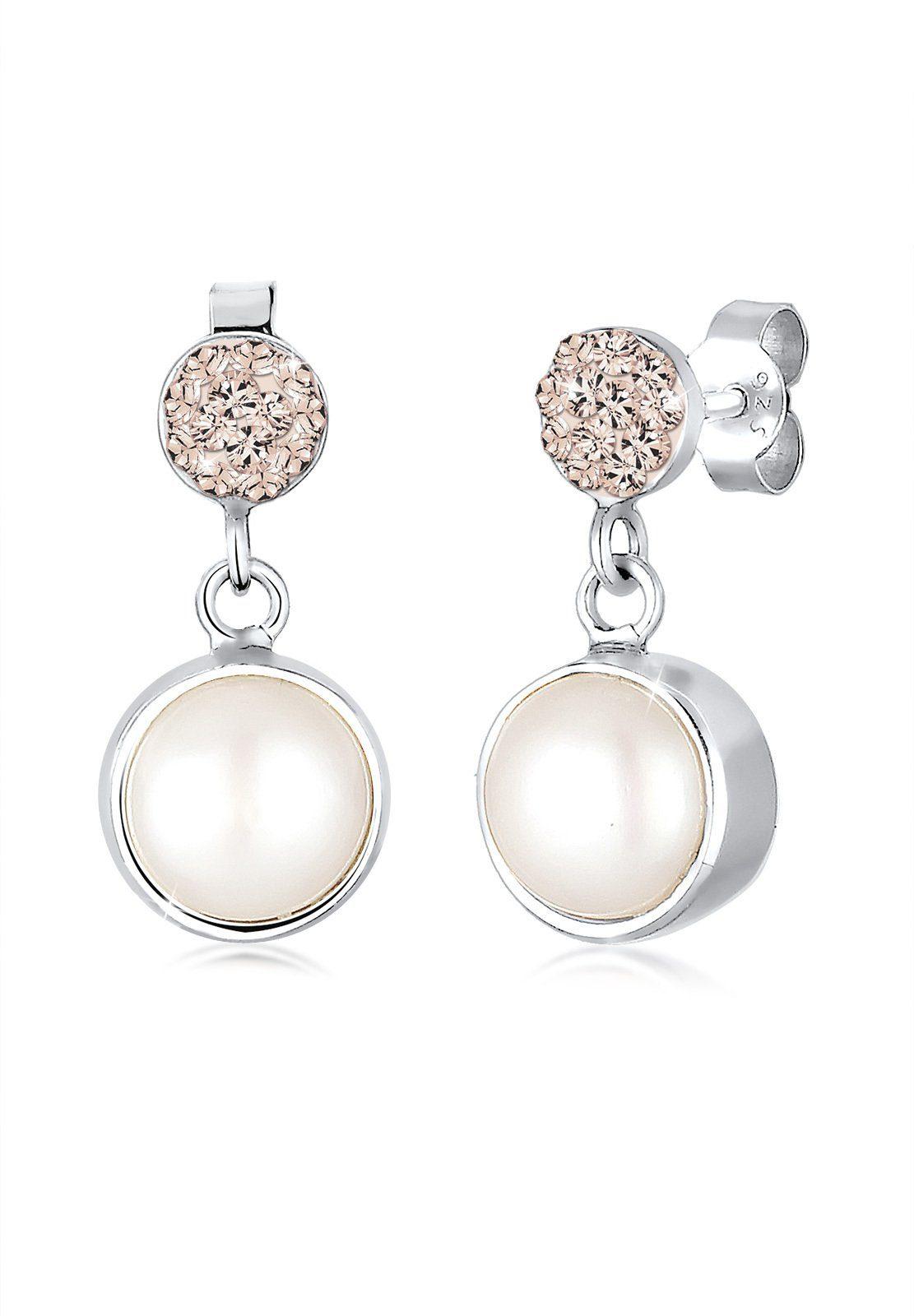 Elli Ohrringe »Süßwasserperle Swarovski Kristalle 925 Silber«