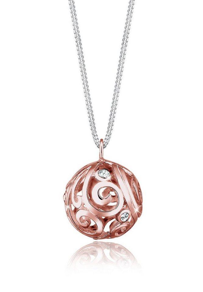 Elli Halskette »Ornament Swarovski® Kristalle 925 Sterling Silber« in Weiß