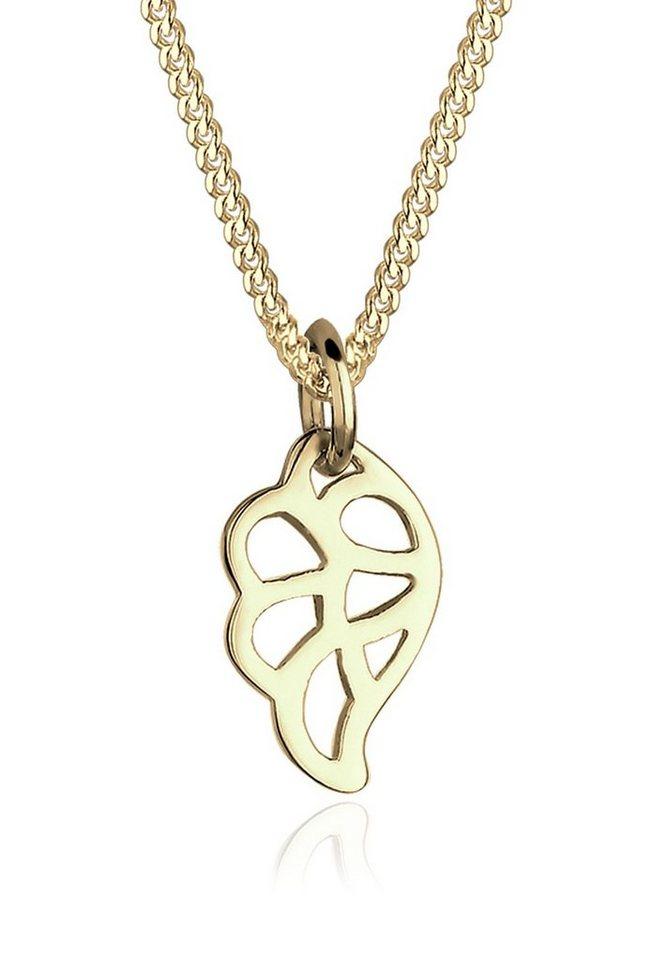 Elli Halskette »Flügel 375 Gelbgold« in Gold