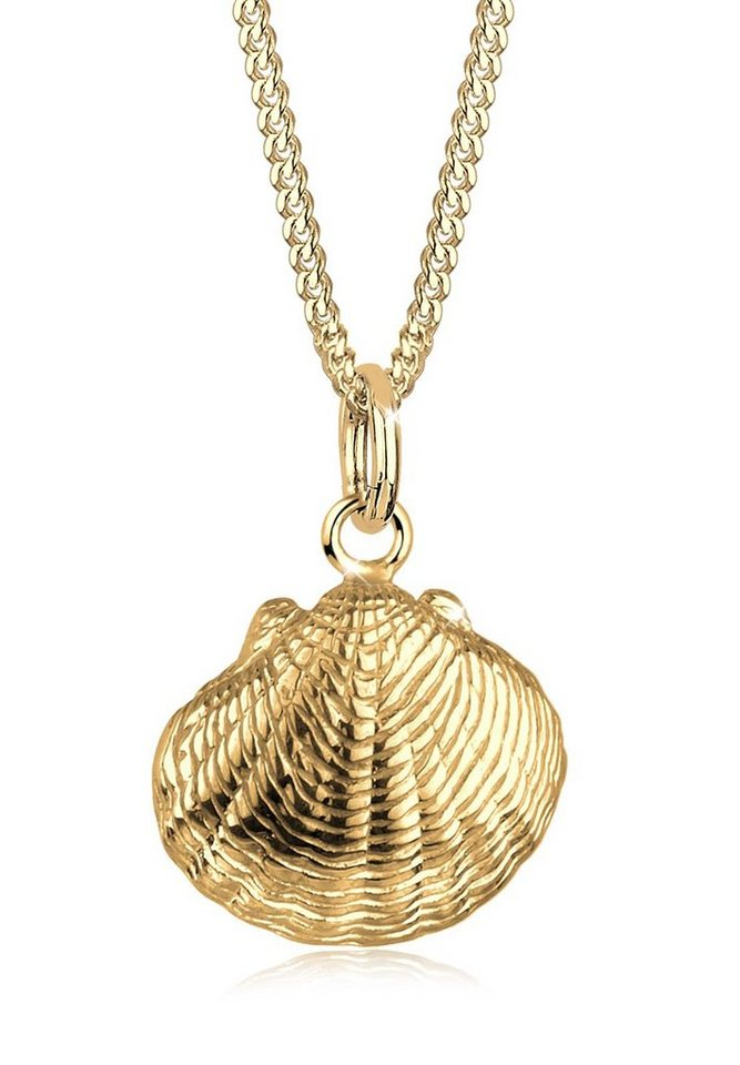 Elli Halskette »Muschel 925 Sterling Silber vergoldet« in Gold