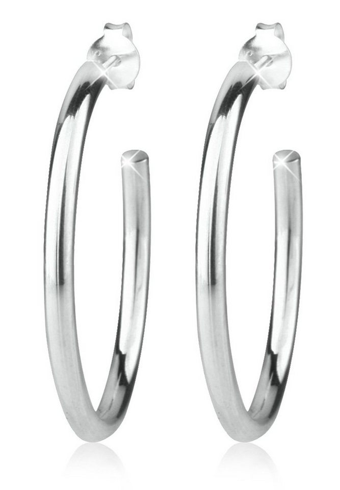 Elli Ohrringe »Creolen Basic 925 Silber« in Silber