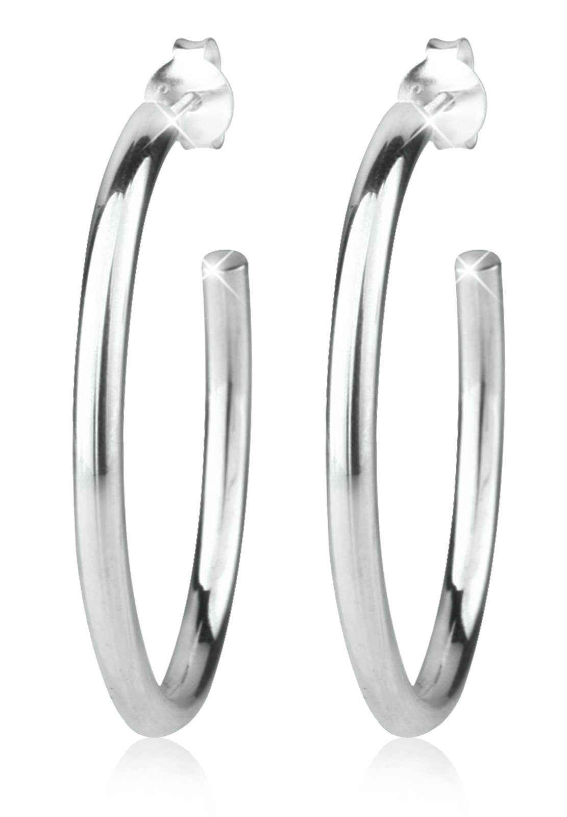 Elli Ohrringe »Creolen Basic 925 Silber«