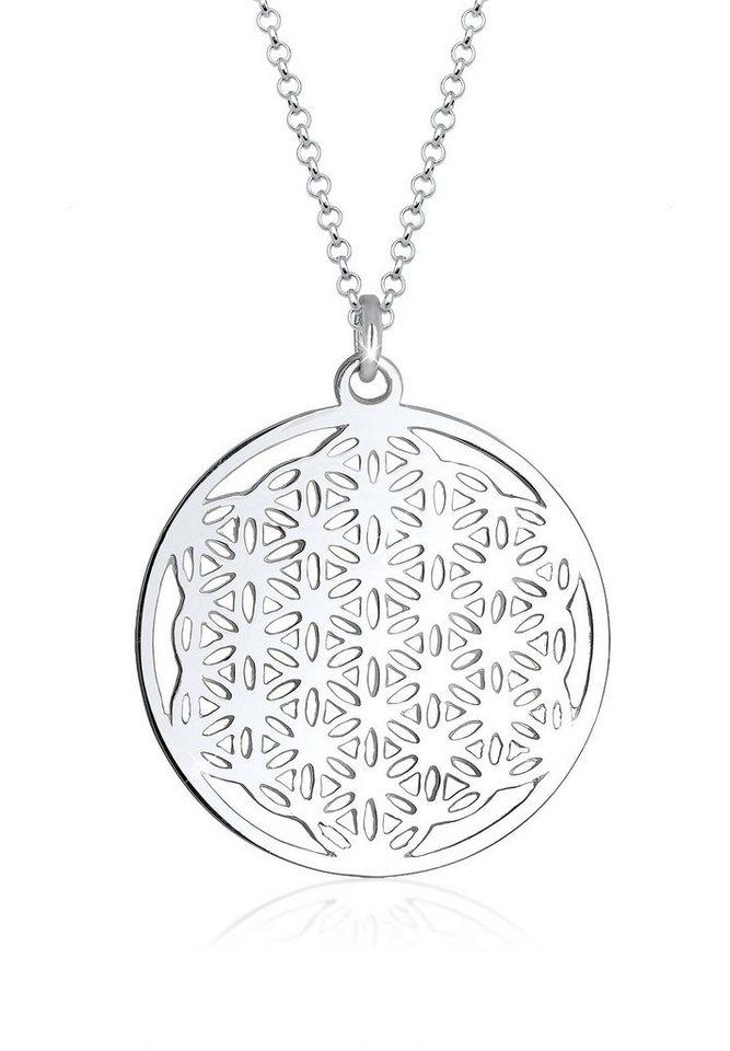 Elli Halskette »925 Sterling Silber Lebensblume« in Silber