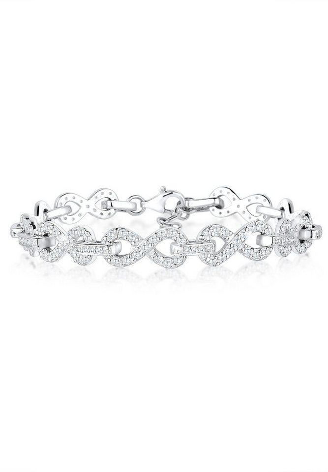 Elli Armband »Infinity Zirkonia 925 Silber« in Weiß